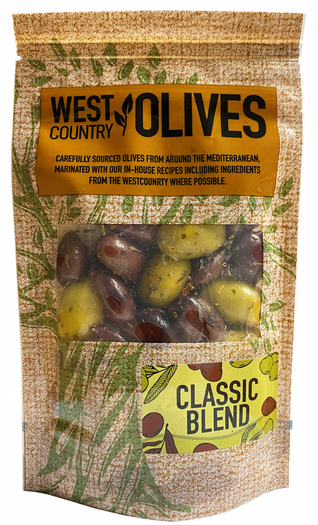 Classic Blend Olives in Packaging by West Country Olives