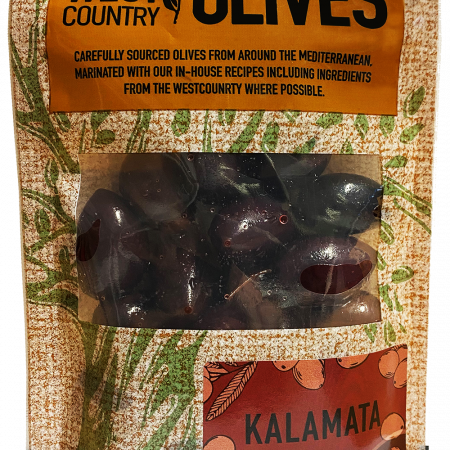 Kalamata Olives in Packaging by West Country Olives