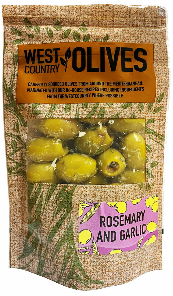 Rosemary & Garlic Olives by West Country Olives