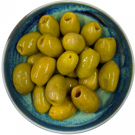 Green Pitted Olives By Post