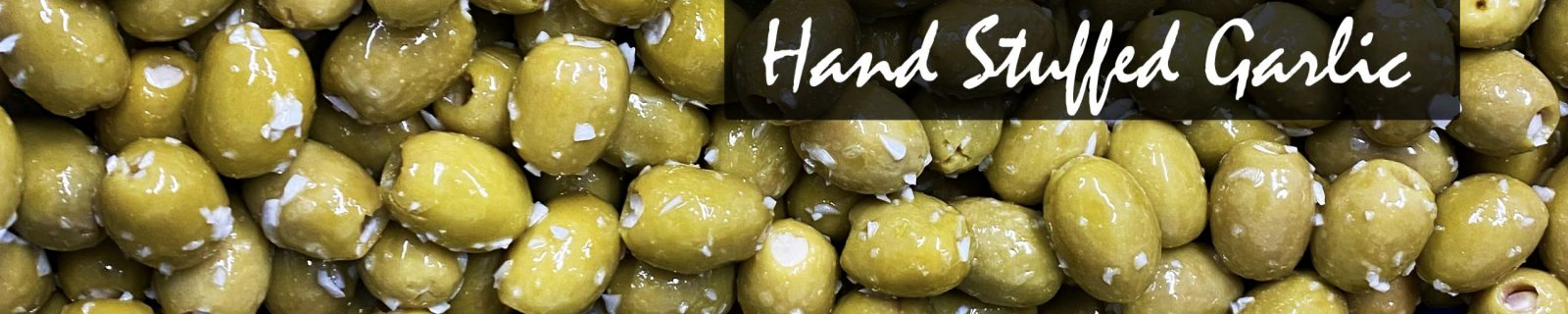 Hand-Stuffed Garlic Olives Green Stuffed Olives West Country Olives