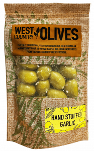 Hand-Stuffed Garlic In Packs West Country Olives in oil