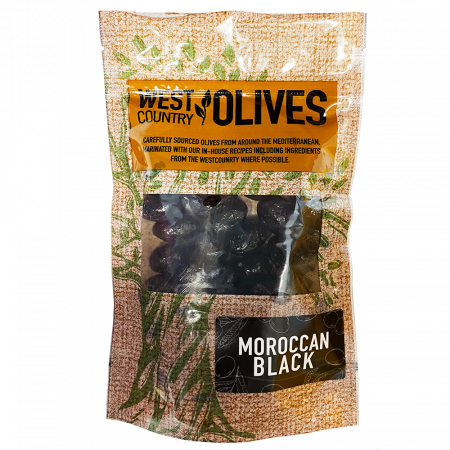 Moroccan Bloack Olives In Packs